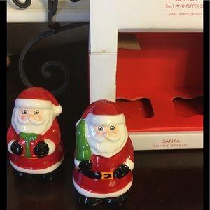 Two Santa salt & pepper shakers.